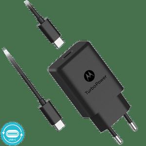 Motorola TurboPower ™ 27 Wandladegerät mit USB-C-zu-USB-C-Datenkabel