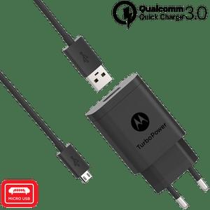 Motorola TurboPower ™ 18 Wandladegerät mit Micro-USB-Datenkabel
