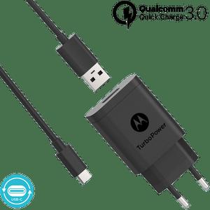 Motorola TurboPower ™ 18 Wandladegerät mit USB-C-Datenkabel