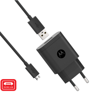 Motorola 10W Rapid Wall Charger mit Micro-USB-Datenkabel